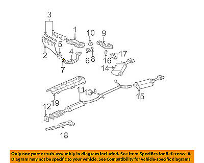 GM OEM Exhaust-Cross Over Pipe Seal 1647558