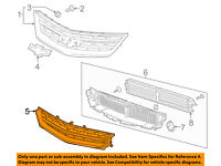 Chevrolet GM OEM 2016 Equinox Front Bumper-Lower Bottom Grille Grill 23370464