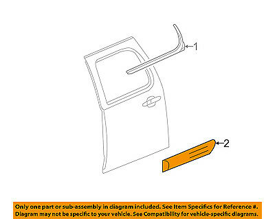 GM OEM REAR DOOR-Body Side Molding Right 20816996