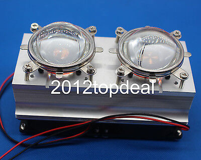 100w 200w High Power Led Heatsink Cooling With Fans 44mm Lens Reflector Bracket