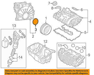 BMW OEM 14-15 i8-Engine Crankshaft Crank Seal 11148602594