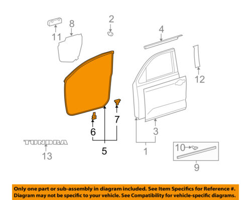 Details about TOYOTA OEM 07-16 Tundra Front Door-Surround Weatherstrip Seal  Left 678620C030