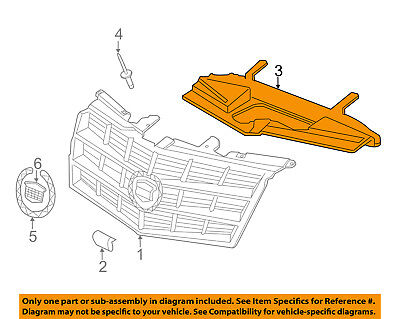 Cadillac GM OEM 08-14 CTS Grille-Support 22845695