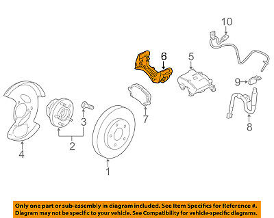 GM OEM Brake-Front-Disc Caliper Support Bracket 13279658