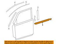 TOYOTA OEM 4Runner-Door Window Sweep-Belt Molding Weatherstrip Right 6816135060