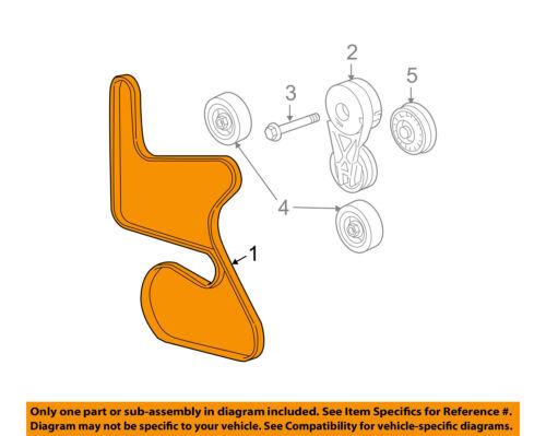 chevrolet gm oem 2005 equinox-serpentine drive fan belt 12575261 | ebay  ebay