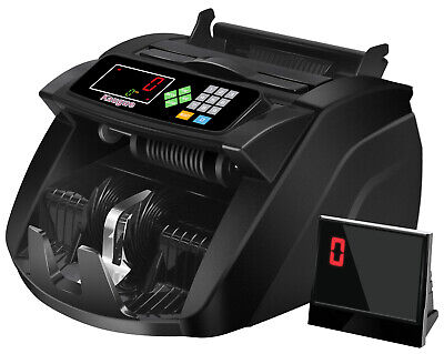 Bill Money Counter Machine Cash Counting Counterfeit Detector Uv Mg Bank Checker