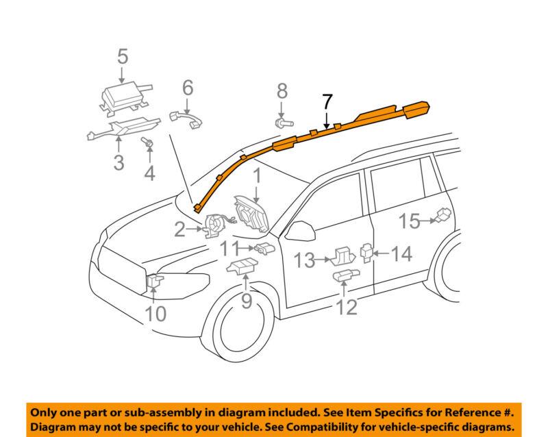 Toyota Oem 08-13 Highlander Airbag Air Bag Srs-inflator Curtain 6218048030
