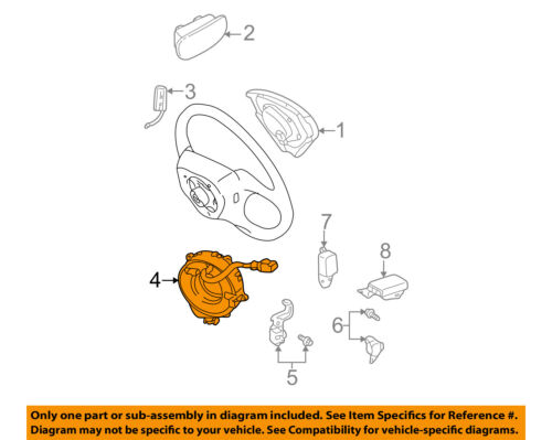 toyota oem airbag air bag clockspring clock spring 8430660050 ebay Lexus Rx350 Wiring Diagram 4 on diagram only genuine oe factory original item