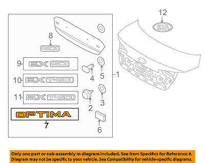 KIA OEM 11-16 Optima Trunk Lid-Emblem Badge Nameplate 863102T100