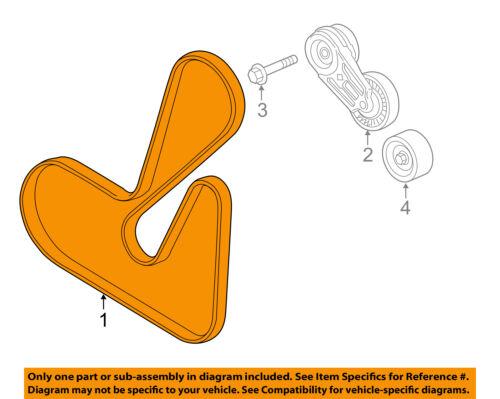 Chevrolet Gm Oem 12 15 Captiva Sport Serpentine Drive Fan Belt