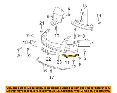 Cadillac GM OEM 08-11 STS Front Bumper-Lower Support Left 25786157