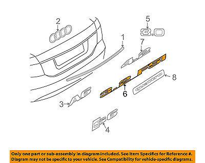 AUDI OEM 05-09 A4 Quattro Trunk Lid-Emblem Badge Nameplate 8P0853743D2ZZ