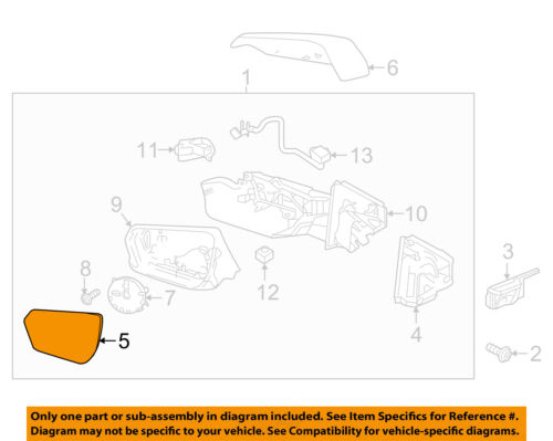 Fits 16-18 Chevy Camaro Right Pass Mirror Glass Lens w//Blind Spot Icon