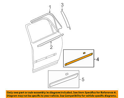 GM OEM Exterior-Rear-Side Molding Right 22777230