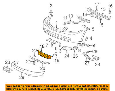 Acura HONDA OEM 06-08 TSX Front Bumper-Grille-Lower 71103SEA000