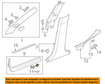 GM OEM Interior-Front Sill Plate Clip 11571016