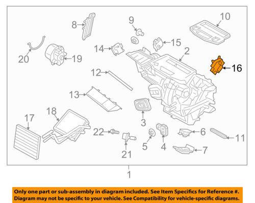 FORD OEM 11-18 Fiesta 1.6L-L4 Evaporator Heater-Adjust Motor BE8Z19E616B