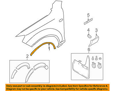 AUDI OEM 07-15 Q7 Front Fender-Wheel Well Flare Arch Molding Right 4L0853718BGRU