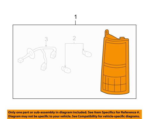 GM OEM-Tail Lamp Assembly Right 20989661