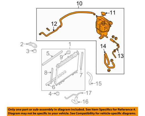 details about nissan oem frontier radiator coolant overflow tank recovery bottle 21710ea01a 2003 nissan xterra radiator nissan radiator diagram #10