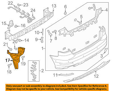 AUDI OEM 15-16 A3 Rear Bumper-Side Support Left 8V5807377