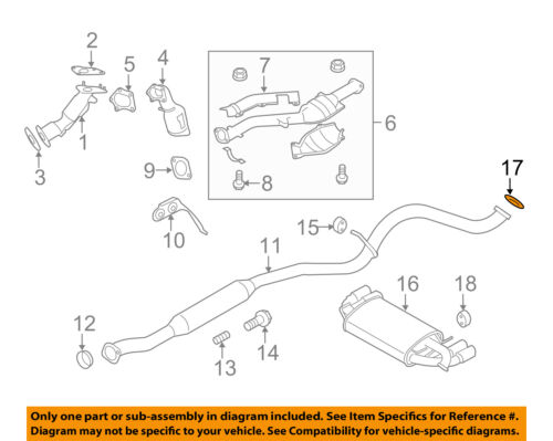 subaru oem 04 14 impreza 2 5l h4 exhaust muffler pipe gasket rh ebay com Subaru 1.8L Engine SOHC Distributor Subaru 1.6L Engine