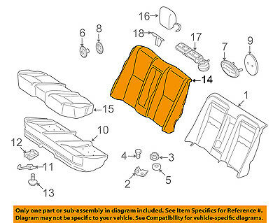 Mercedes MERCEDES-BENZ OEM S550 Rear Seat-Seat Cover-Top Back 22192033478M29