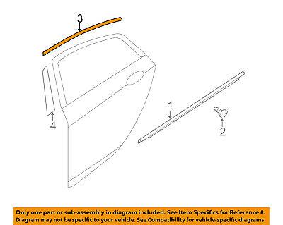 KIA OEM 11-16 Optima Exterior-Rear-Frame Molding Right 838602T000