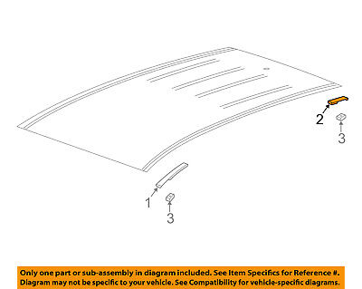 GM OEM Roof-Drip Molding Right 95276294