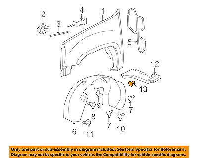 GM OEM-Fender Liner Splash Shield Push Clip Retainer Blind Rivet 11589181