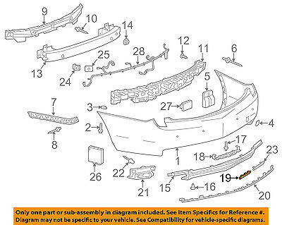 Cadillac GM OEM 13-17 XTS Rear Bumper-Lower Panel Filler Left 20901449