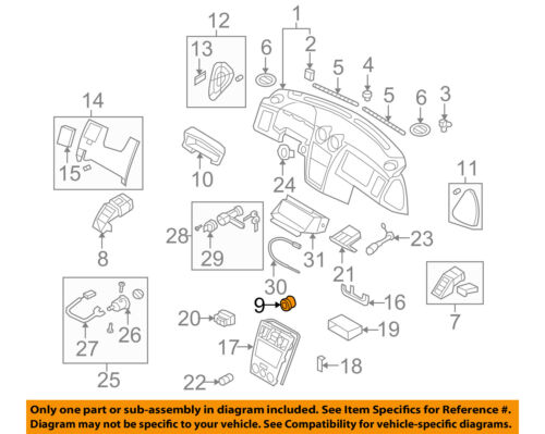 Genuine Hyundai 97410-2C000-LK Air Vent Duct Assembly