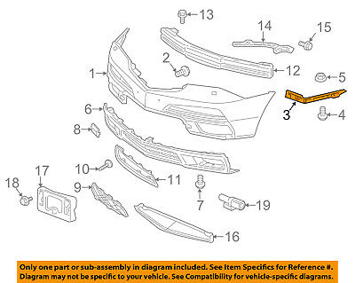 Acura HONDA OEM 07-13 MDX Front Bumper-Spacer Support Bracket Right 71193STXA00