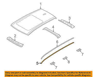 BMW OEM 08-14 X6-Roof Molding Trim Left 51137250401