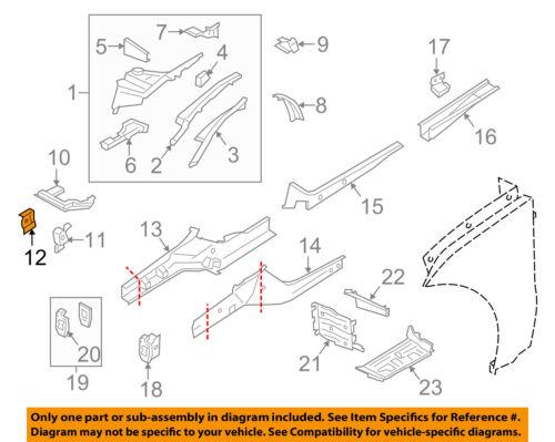 PORSCHE OEM 15-16 Macan Radiator Core Support-Bracket Left 95B807333A