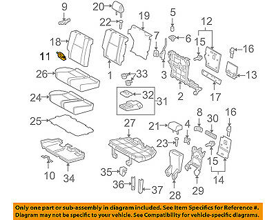 TOYOTA OEM 10-16 4Runner Second Row Back Rear Seat-Hinge Right 7130360030 Second Row Runner