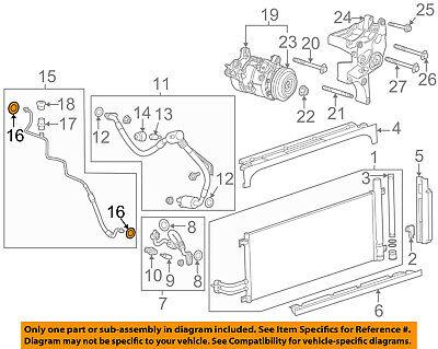 GM OEM A/C AC Condenser/Compressor/Line-Evaporator Tube Seal 13579649