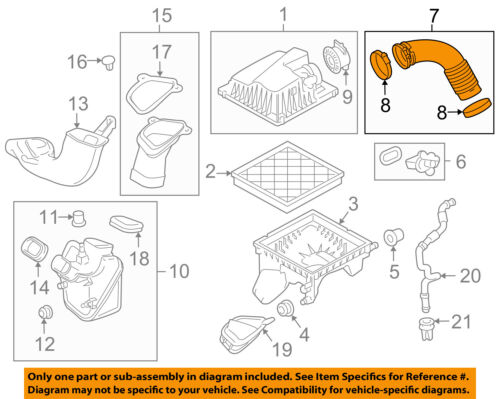 Chevrolet GM OEM 11-15 Cruze Air Cleaner-to Intake Tube Duct Hose 13265784