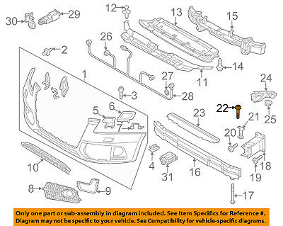 AUDI OEM 13-16 Q5 Headlight Head Light Lamp-Mount Bracket Bolt N10442204