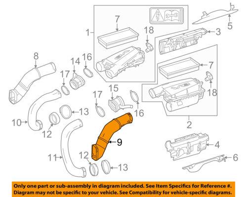 2PCS Left and Right Air Intake Duct Hose for Mercedes GL450 GL550 GLS550 ML550 GL63 GLE63 GLS63 ML63 AMG Base 4Matic 4.6L 5.5L V8