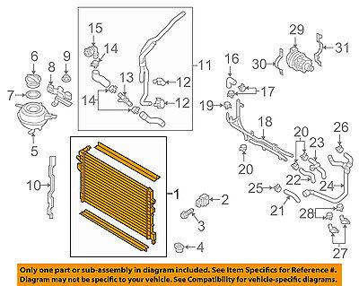 AUDI OEM 16 18 A3 Sportback e tron 14L L4 Radiator 5Q0121251HH