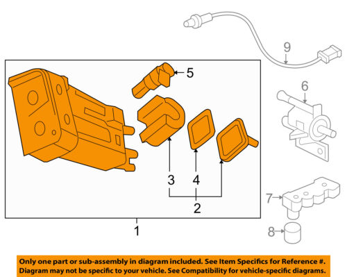 GM OEM-Vapor Canister Fuel Gas Emission 84127073
