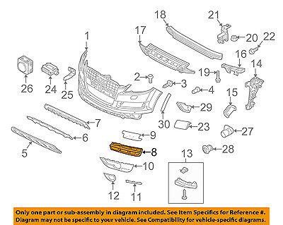 AUDI OEM 10-15 Q7 Front Bumper Grille Grill-Outer Grille Left 4L0807681B01C