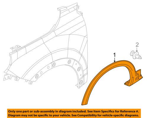 FIAT OEM 16-18 500X EXTERIOR TRIM-FENDER-Wheel Opening Molding Left 6LR27U5LAA