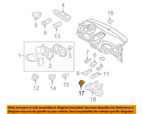 FORD OEM Temperature-In-Car Interior Temperature Sensor 6E5Z19C734BA