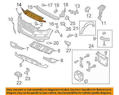AUDI OEM 10-15 Q7 FR Bumper Face-Impact Foam Energy Absorber Bar 4L0807550D