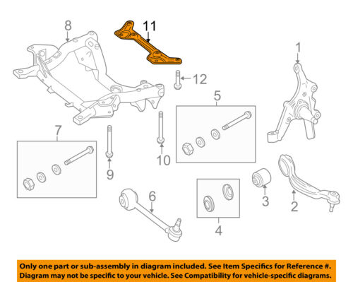 MERCEDES OEM 12-16 E350 Front Suspension-Reinforcement Plate 2126280411