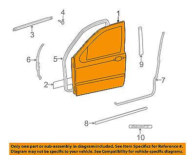 Mercedes MERCEDES-BENZ OEM ML320 Front Door-Shell Frame Panel Right 1637201605