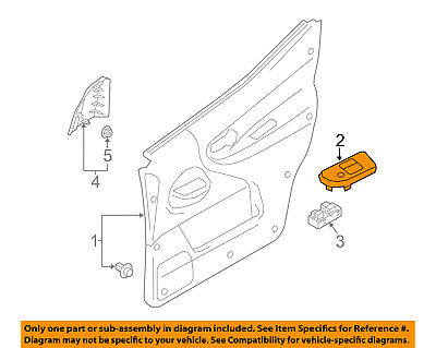 NISSAN OEM 13-18 NV200 Front Door-Switch Bezel Right 809603LM0A